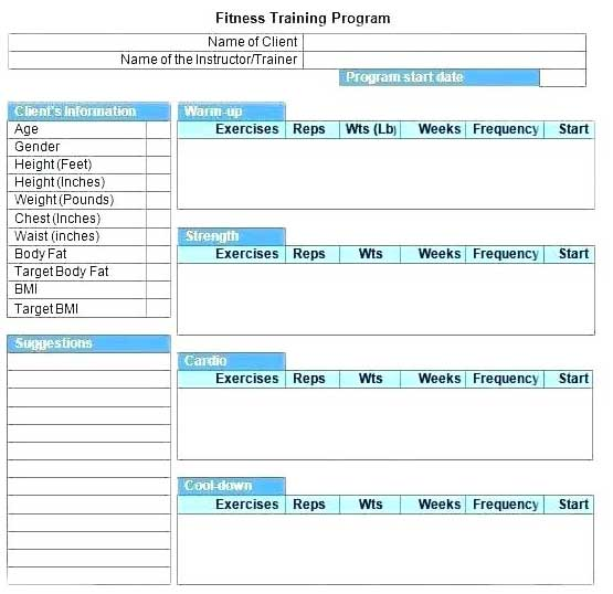 Weekly Gym-Workout Plan Schedule Template Excel