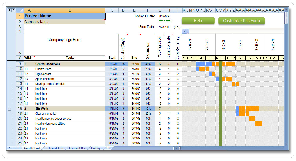 Project Management Timeline Template Excel from www.excel124.net