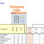 Annual Employee Leave (PTO Tracker) Excel format