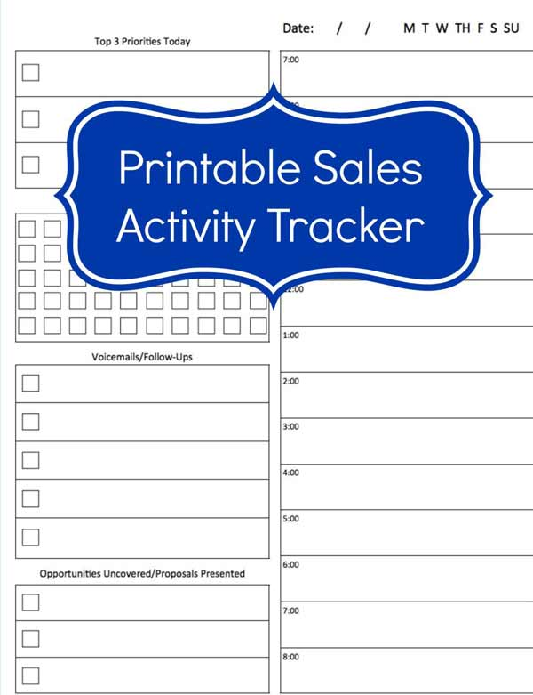 sales calls log tracking template excel
