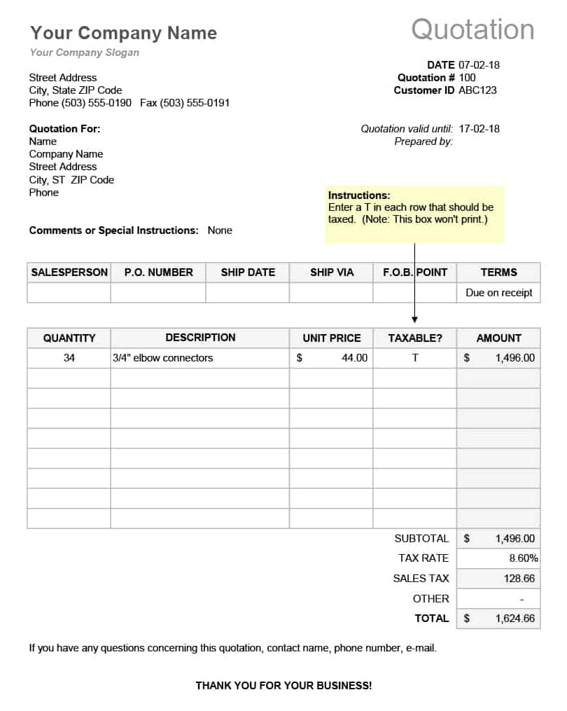 RFQ-Template-Excel